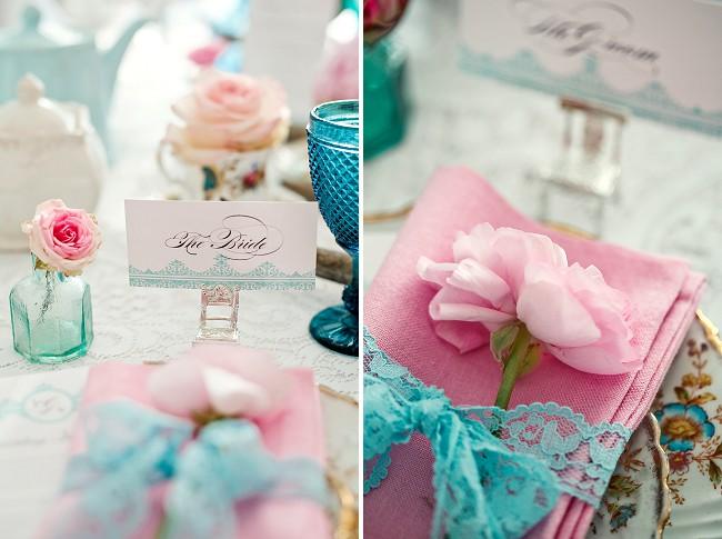 Ideias para casamento e festa Decoração casamento rosa e azul