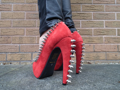 Sammi Jackson - Red Jeffrey Campbell Damsel Spike