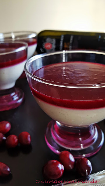 Goat Cheese Panna Cotta with Port Cranberry Glaze