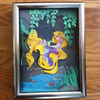 rapunzel tangled disney paper art illustration watercolor j shari ewing