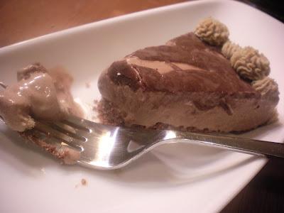 Slice of Banana Mocha Ice Cream Cake