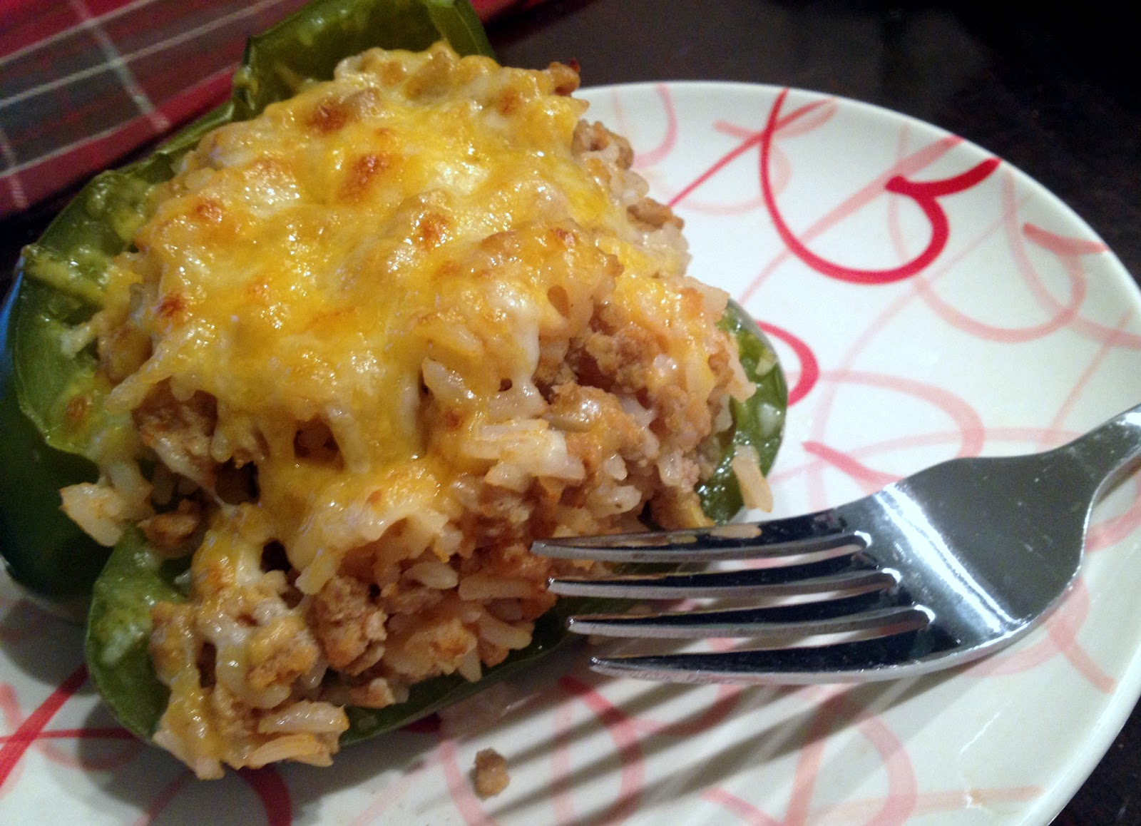 Call Me Mrs. Rapp: Ground Turkey Stuffed Peppers