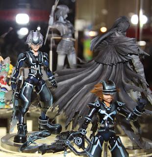 Square Enix Play Arts 2013 Toy Fair Display - Kingdom Hearts Sora Tron figure