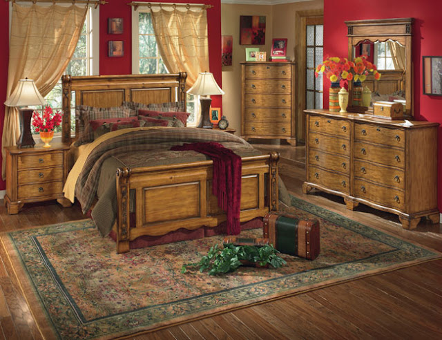 Here a few points about country bedroom style are given: