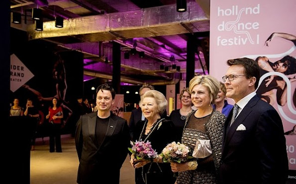 "Princess Beatrix, Princess Laurentien and her husband Prince Constantijn attended the opening gala of the 15th edition of the ""Holland Dance Festival"" at the South Beach Theater"