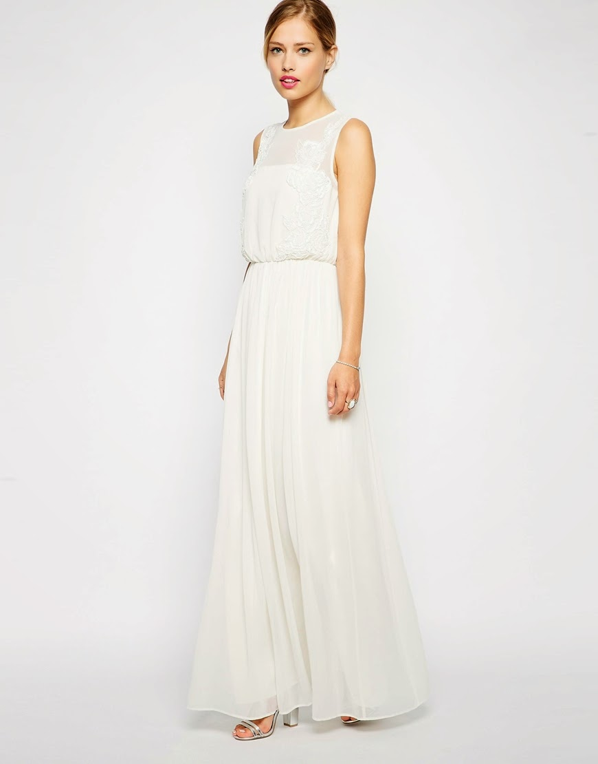 asos white maxi dress