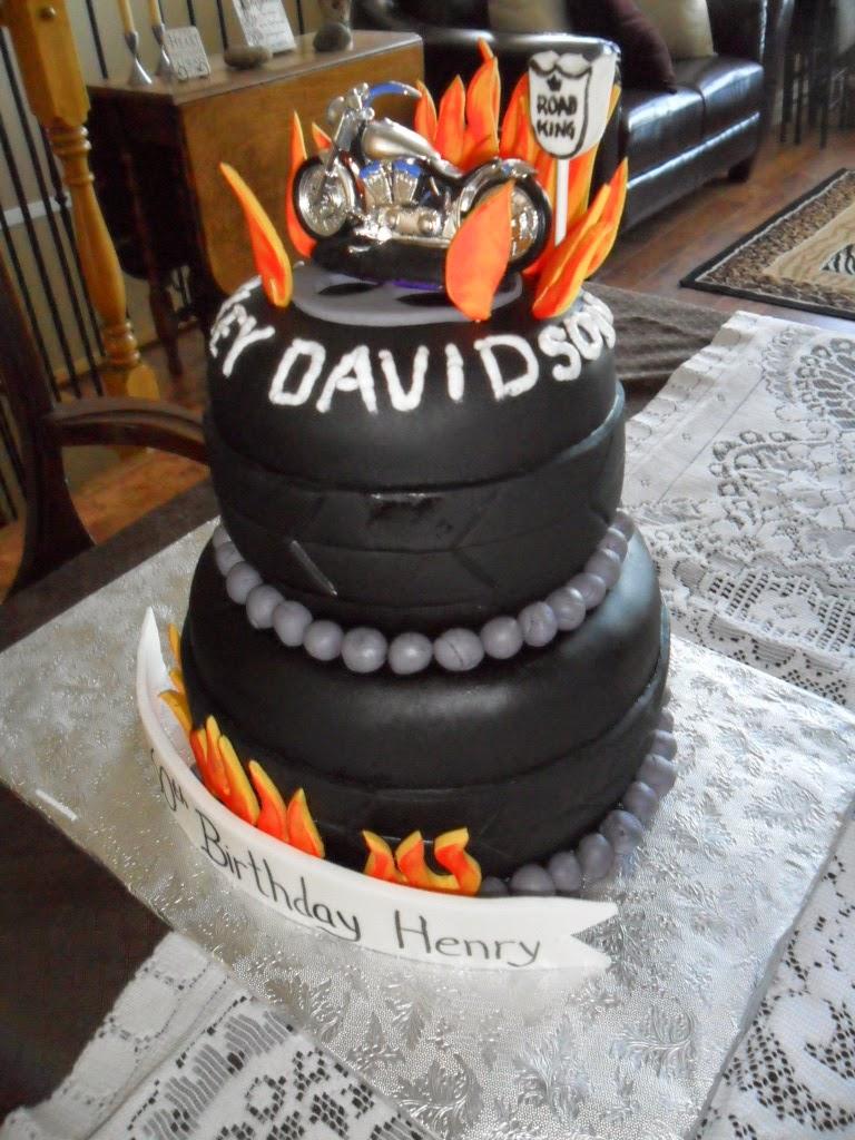 Larry The Cake Guy Harley Davidson Birthday Cake