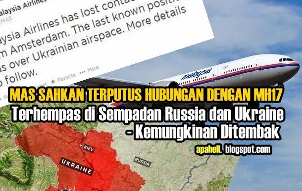 Video : Pesawat MH17 Pula Terhempas di Ukraine