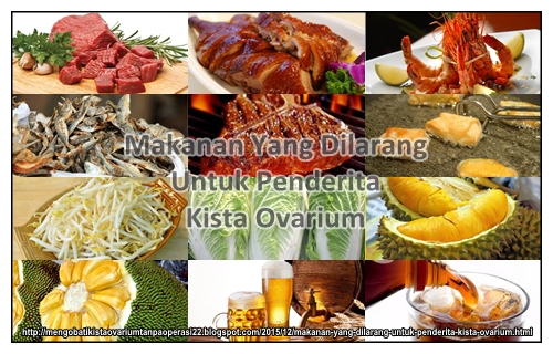 Makanan Yang Dilarang Untuk Penderita Kista Ovarium