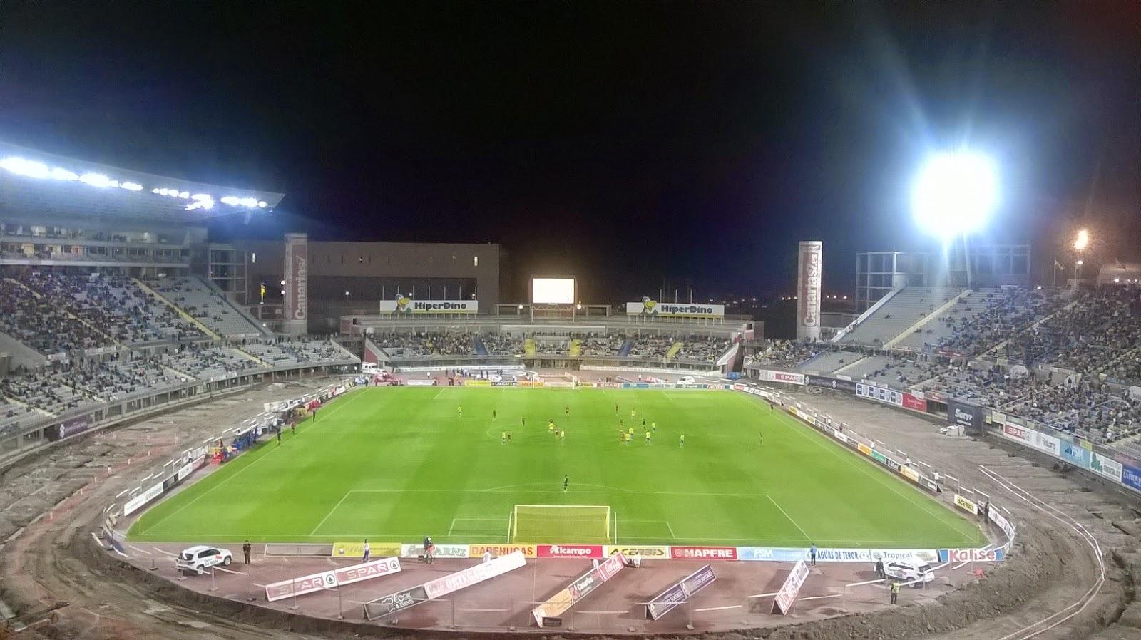 Vista del Estadio de Gran Canaria durante el partido