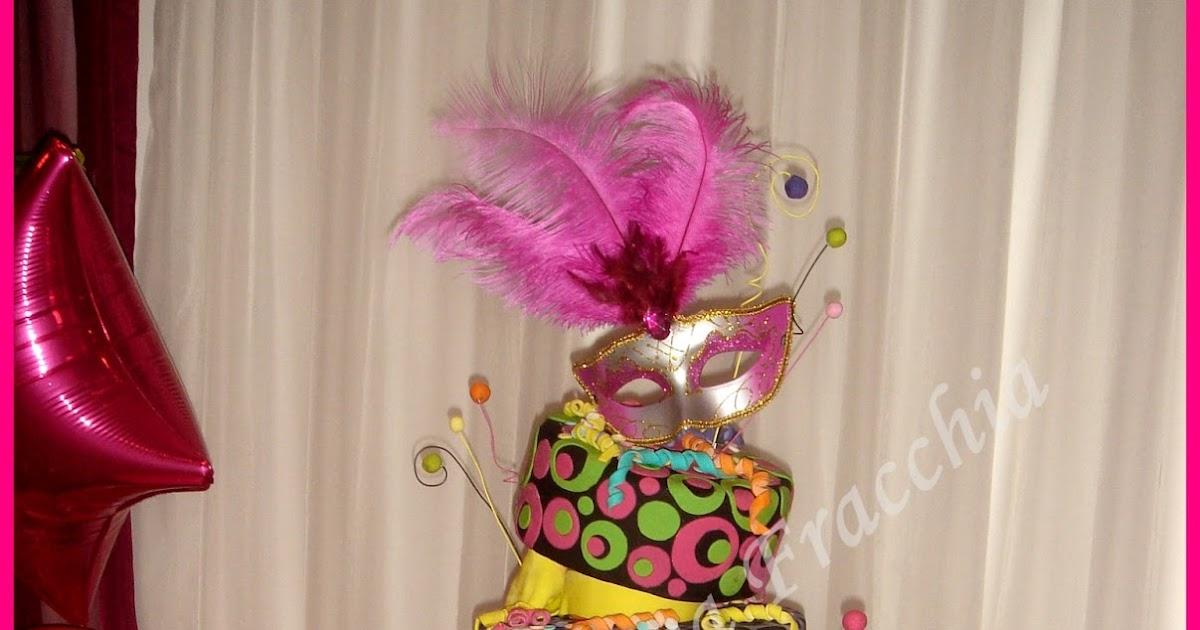 tortas cakes by monica fracchia torta decorada para 15 a os tema carnaval. Black Bedroom Furniture Sets. Home Design Ideas