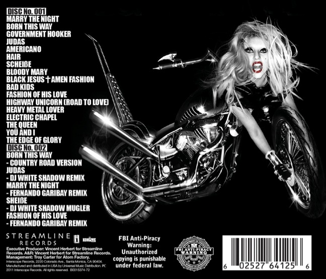 lady gaga born this way booklet. girlfriend Lady GaGa Born This