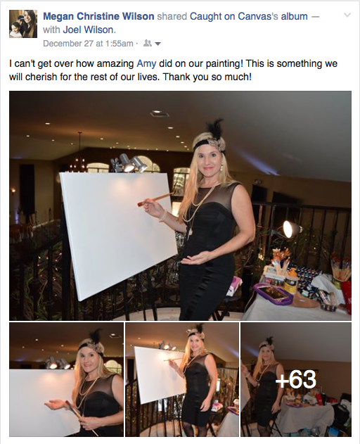 Live Event Painter, Amy Stone