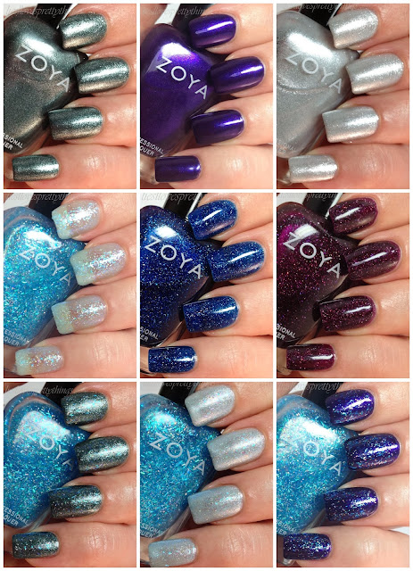 Zoya Zenith collection swatch and review holiday 2013