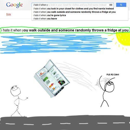 FUS RO DAH - Funny Google Search Suggestion Strikes Again