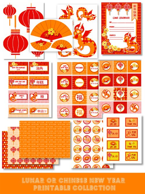 Beautiful Chinese New Year Invitation Card Design