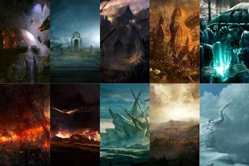 Colección de imágenes fantásticas II (10 postales increíbles)