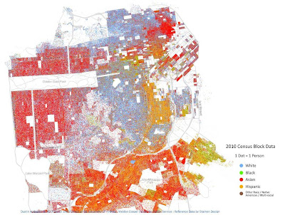 Racial Dot Map of San Francisco