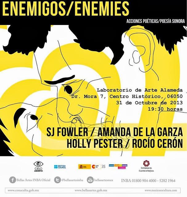 """La muestra """"Enemies"""" explora las acciones poéticas en el Laboratorio Arte Alameda"""
