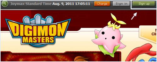 Digimon Masters, registro e Download! 01