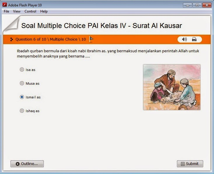 Soal Pai Kelas Iv Surat Al Kausar Multiple Choice Blog Pai