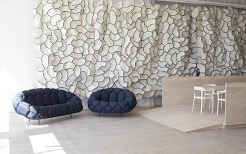 Interior Design of Kvadrat Showroom by Ronan and Erwan Bouroullec