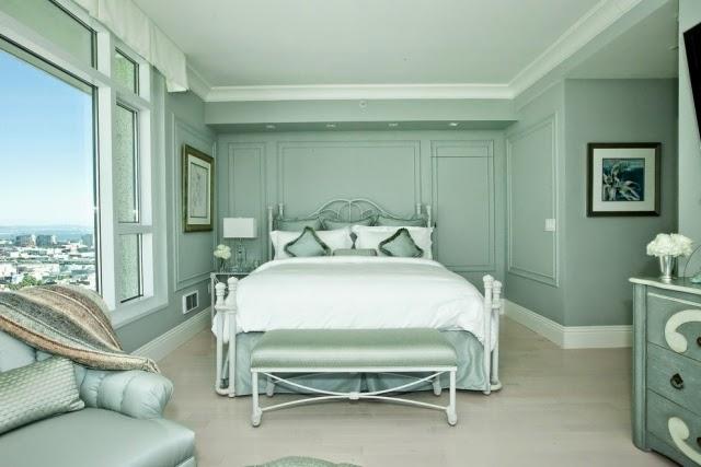 Dise os de dormitorios relajantes dormitorios colores y - Dormitorio verde ...