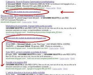 Risultati SERP di Google