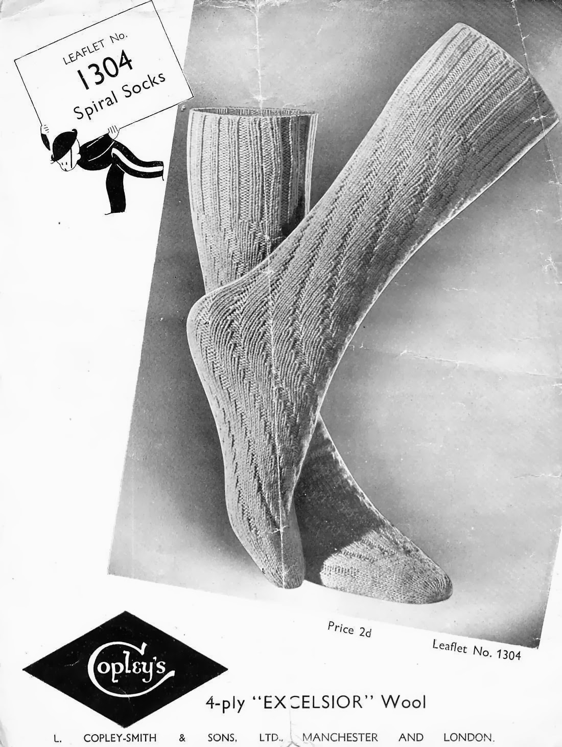 Knitting Now and Then: Spiral Socks
