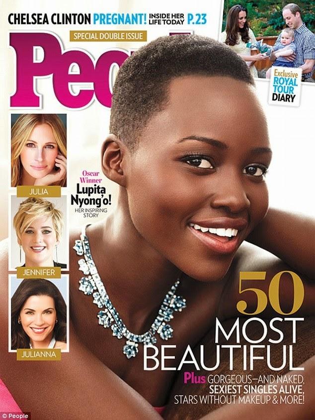 Lupita Nyong'o wo muri Kenya niwe muntu mwiza ku Isi mu 2014