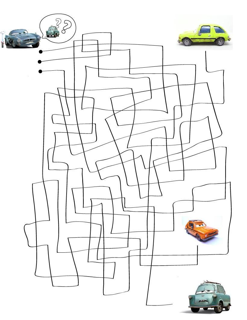 juego cars2 laberinto finn