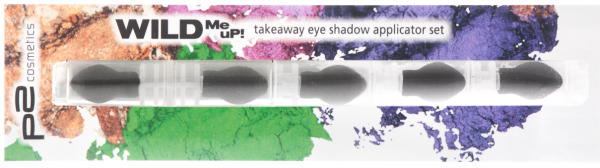 p2 wild me up TAKEAWAY eye shadow applicator set