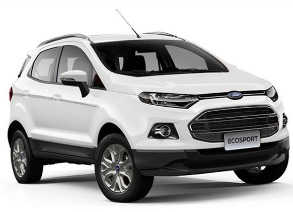 Eksterior Ford Ecosport Tampak Depan Meskipun Gagang Pintu Kelihatan Sederhana Tetapi Penggunaan Gagang Rak Di Bagian Atapnya Yang Di Cat Dengan Warna