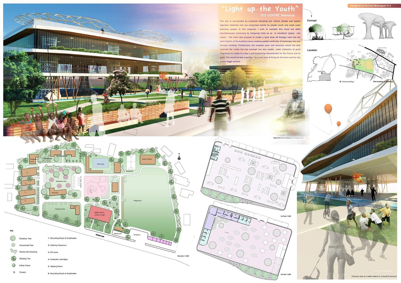 Grimrichardsartlife youth centre design for nsambya for Youth center architecture