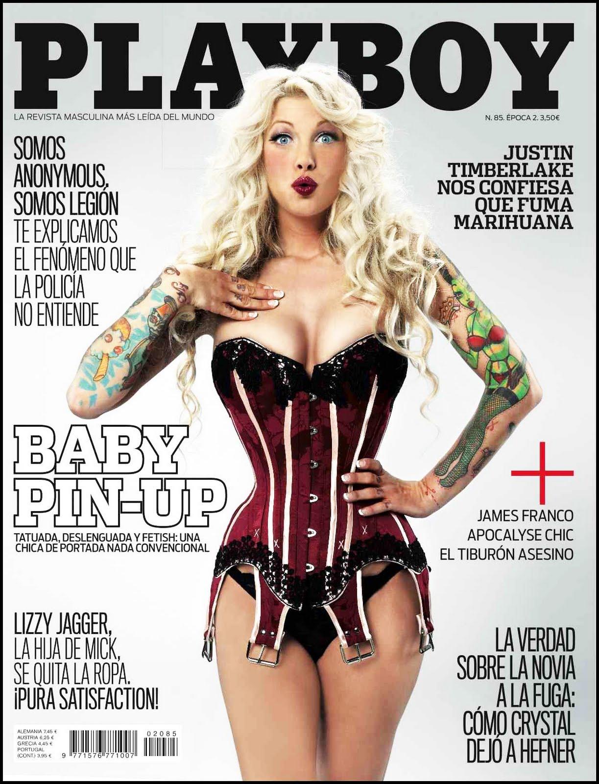 Playboy Agosto 2011 de Baby Pin up vestida por Bibian Blue Playboy