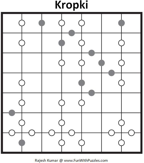 7x7 Kropki (Logical Puzzles Series #12)