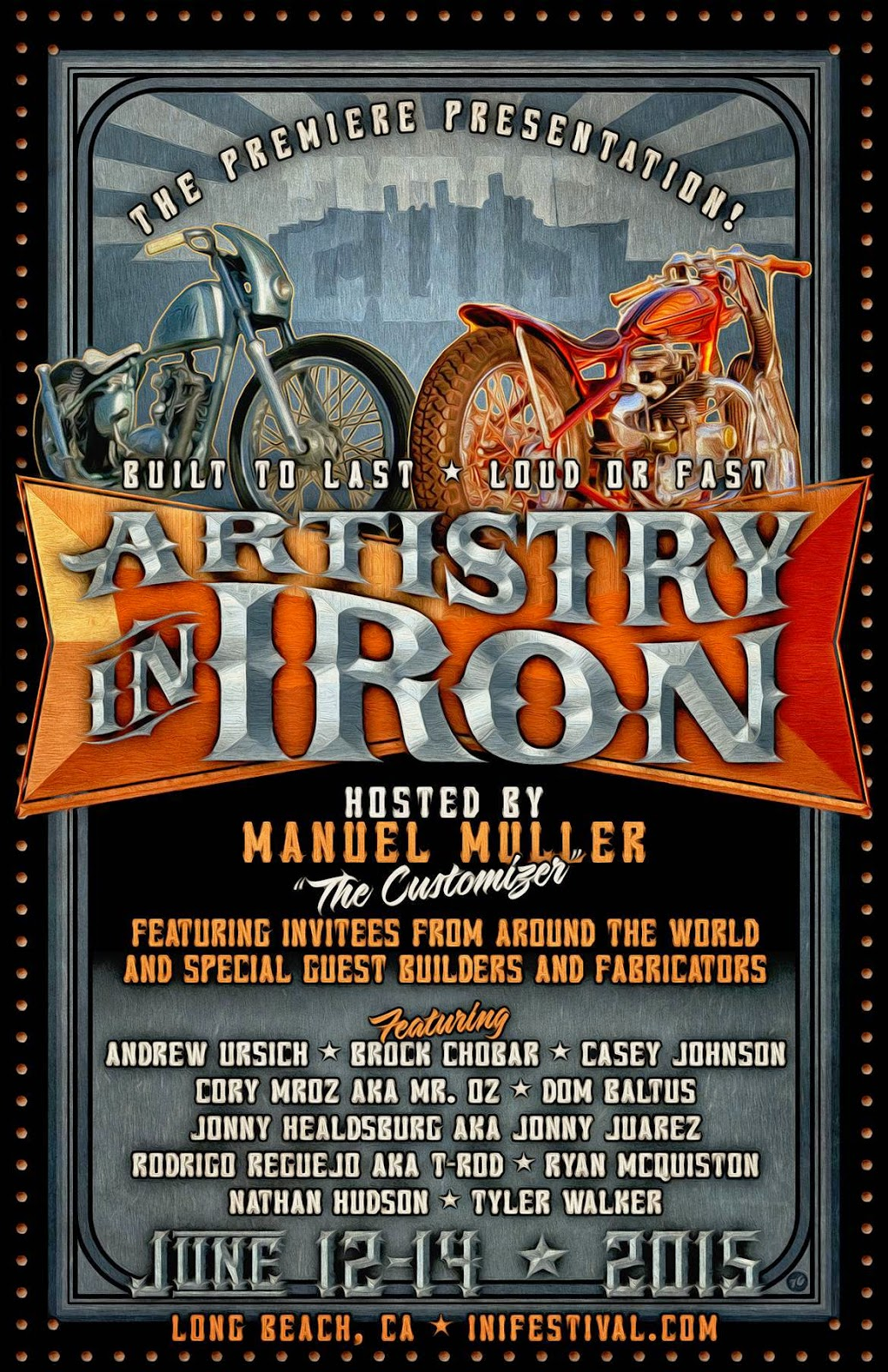 Ink N Iron Motorama Artistry In Iron 2015 Brock Chobar Long Beach Queen Mary