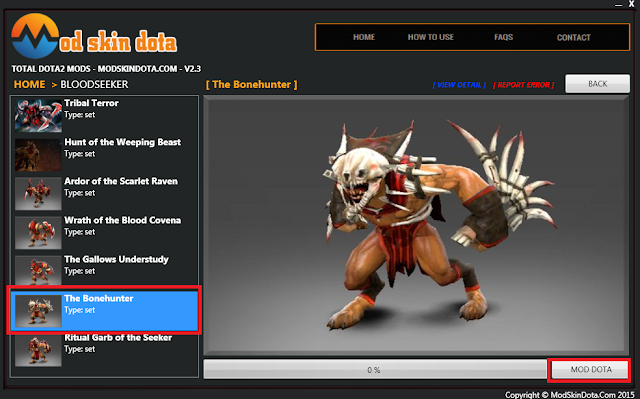 [Mod Dota] Bloodseeker The Bonehunter