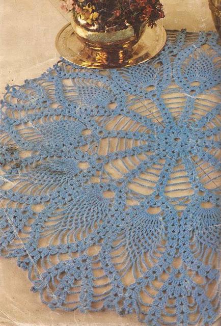 Tapete Turquesa a Crochet