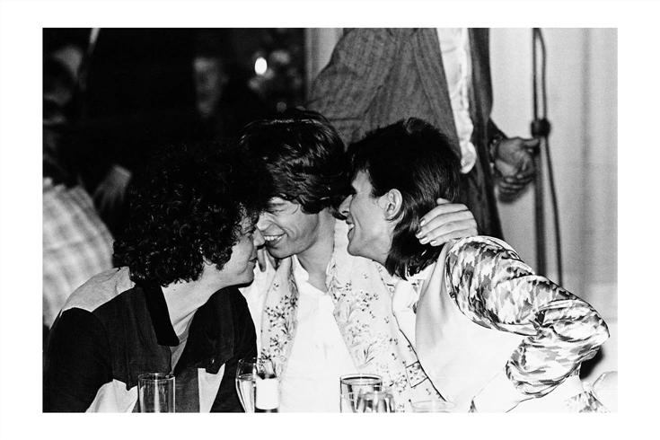 Lou Reed, Mick Jagger, David Bowie photo par Mick Rock