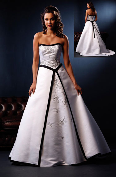 Black N White Wedding Dresses : Black n white wedding dresses flower girl