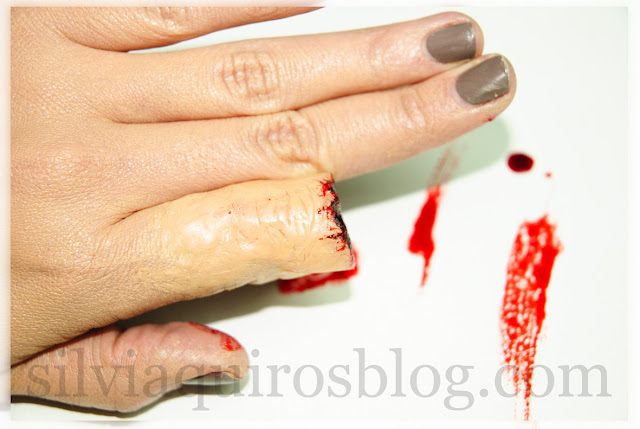 Como hacer dedo mordido con maquillaje de efectos especiales, How to do bitten finger with special effects makeup Halloween Silvia Quirós