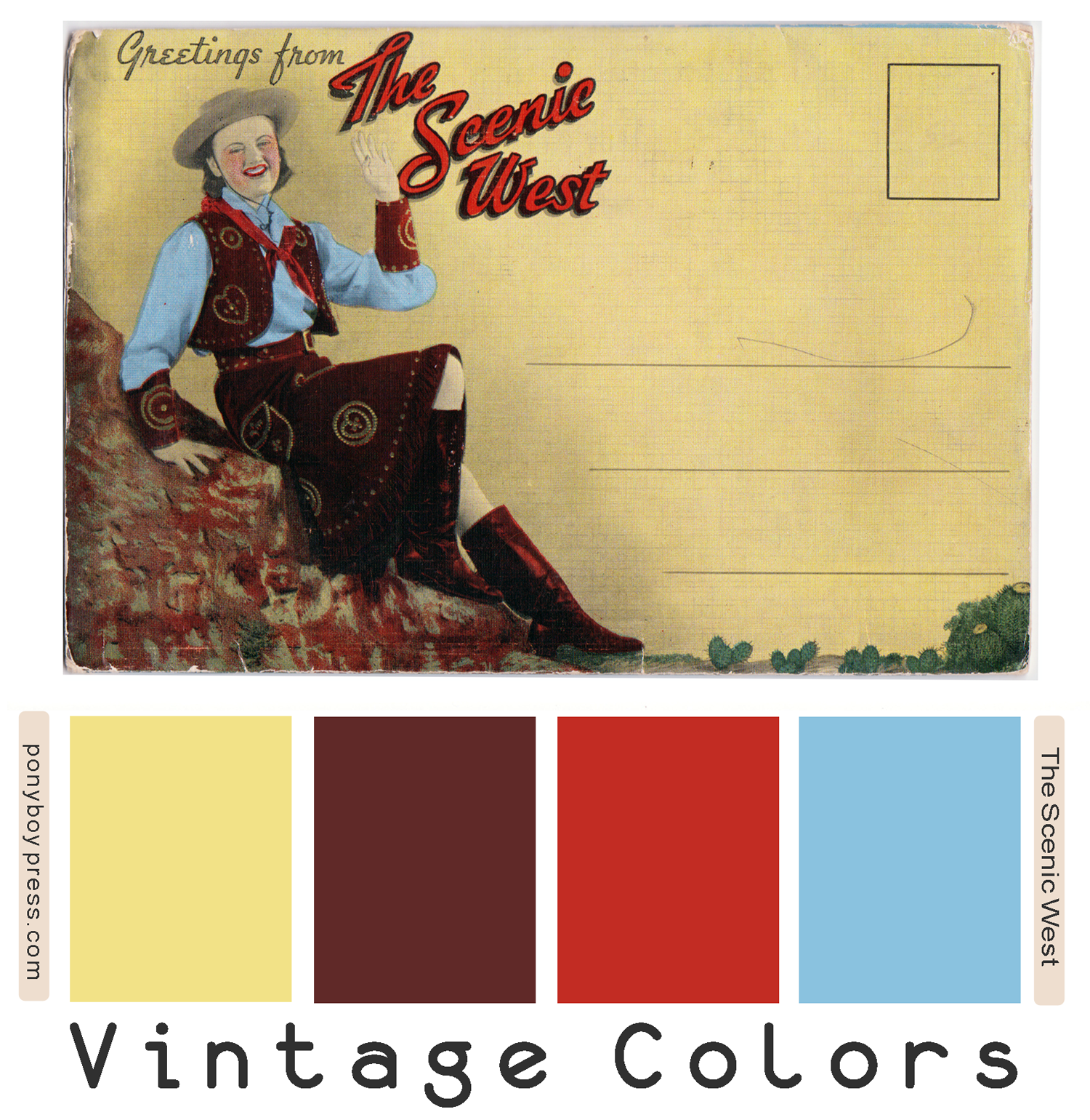 Vintage Color Palette - The Scenic West - ponyboypress.com