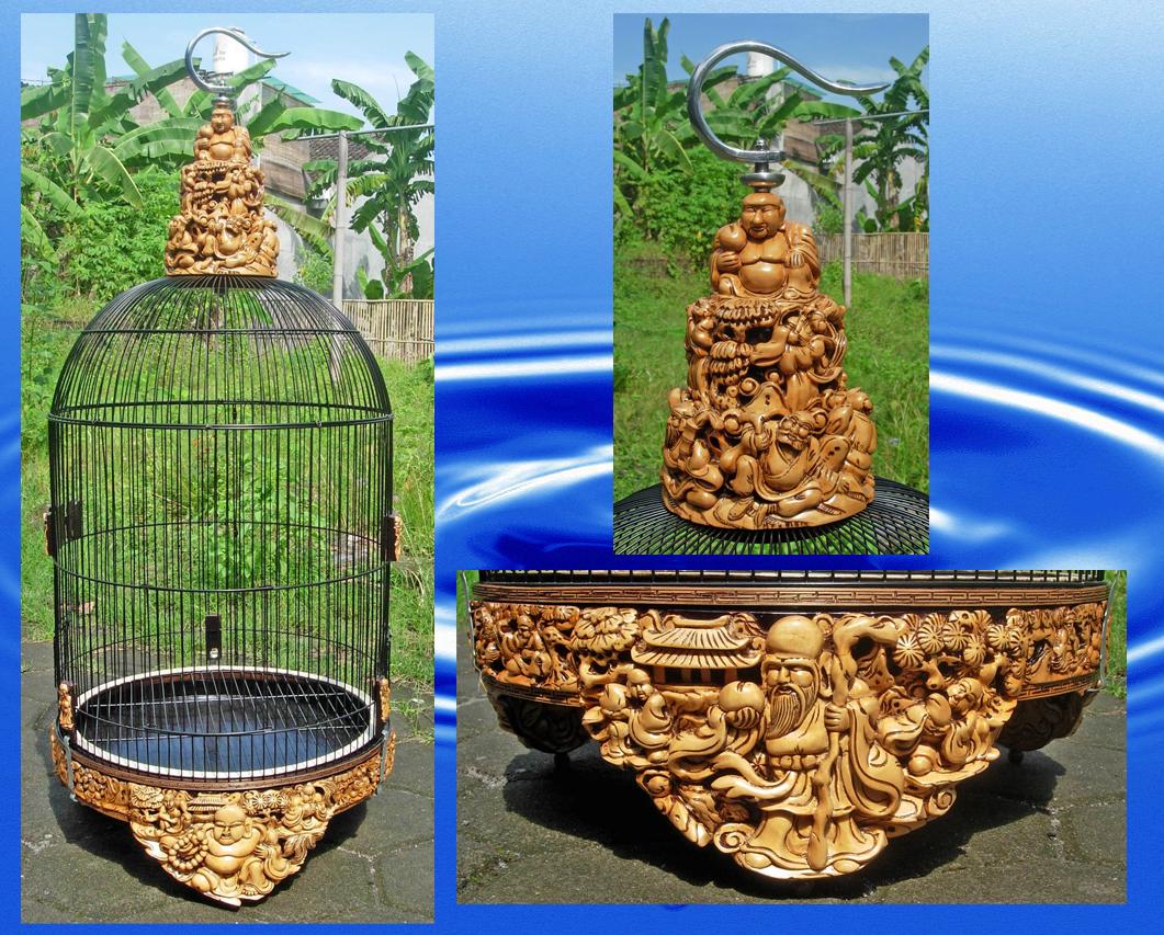 "Sangkar Lovebird Motif ""Sang Budha"""