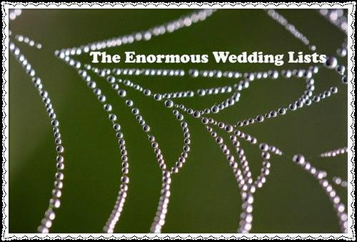 Preparing Wedding Lists