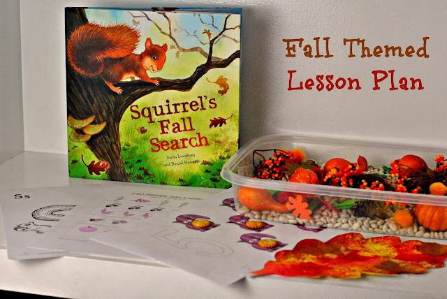 Pre-K Fall lesson plan. Including mess-free painting! #lessonplan #Fall #Pre-K