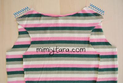coser hombros pijama