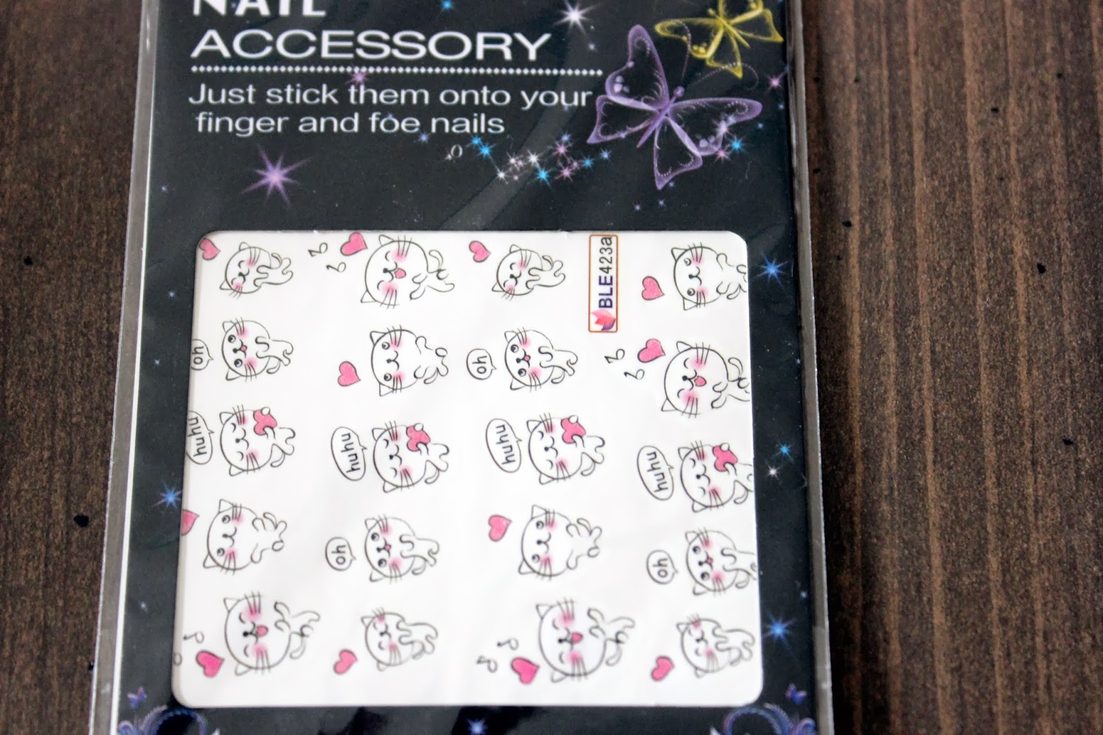 Bornpretty Funny White Cat Printed Nail Art
