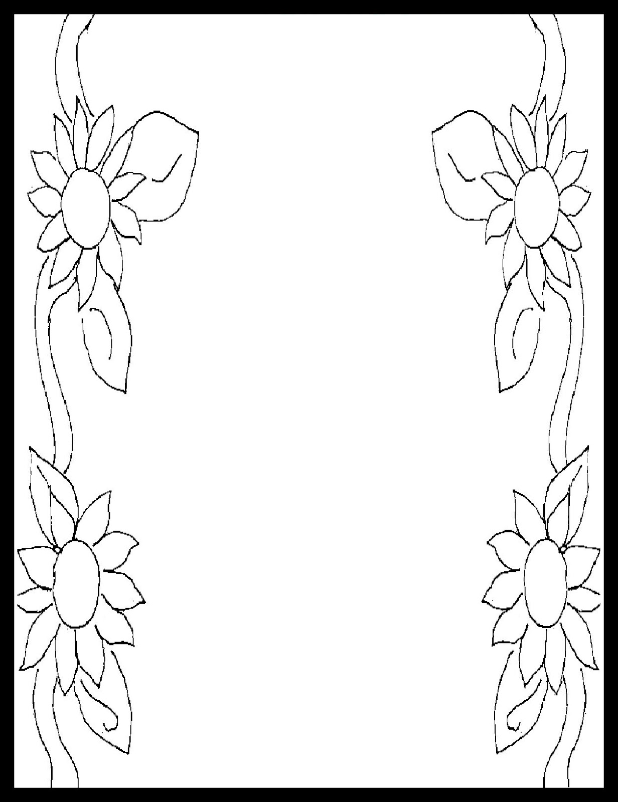 page border coloring pages - photo#37