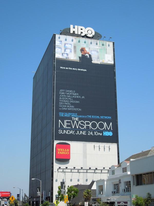 Giant Newsroom billboard